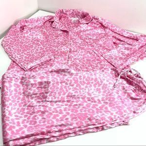 Pink K 2 piece Pajama set animal print